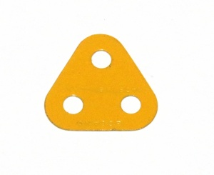 77 Triangular Plate 2x2x2 UK Yellow Original