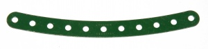 89 Curved Strip 11 Hole Dark Green Original
