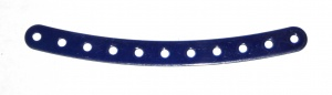 89 Curved Strip 11 Hole Iridescent Blue Original