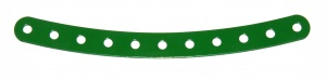 89 Curved Strip 11 Hole Light Green