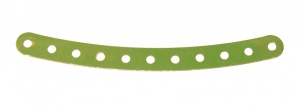 89 Curved Strip 11 Hole Light Green Original