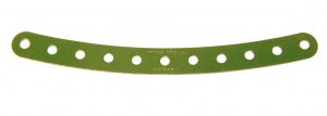 89 Curved Strip 11 Hole Mid Green Original