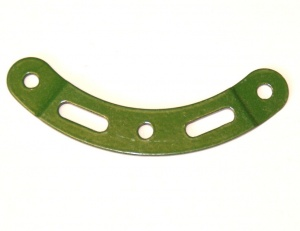89a Curved Strip 3 Hole 2 Slot Stepped 3'' Green