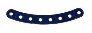 89b Curved Strip 8 Hole Stepped Dark Blue Original