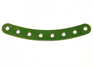 89b Curved Strip 8 Hole Stepped Green