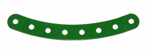 89b Curved Strip 8 Hole Stepped Light Green