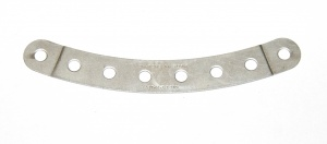 89b Curved Strip 8 Hole Stepped Silver Original