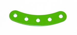 90 Curved Strip 5 Hole Fluorescent Green Original