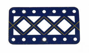 97DC Double Braced Girder 7 Hole Blue and Gold Original