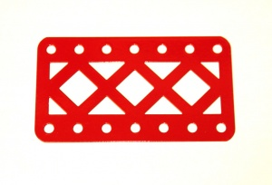 97DC Double Braced Girder 7 Hole Red