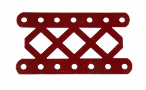 97DO Double Braced Girder 7 Hole Dark Red Original