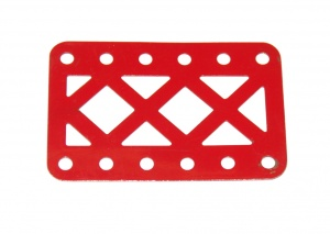 97aDC Double Braced Girder 6 Hole Red Original