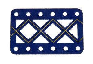 97aDC Double Braced Girder 6 Hole Blue and Gold Original