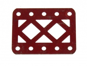 98DC Double Braced Girder 5 Hole Dark Red Original
