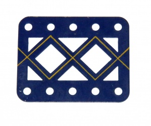 98DC Double Braced Girder 5 Hole Blue and Gold Original