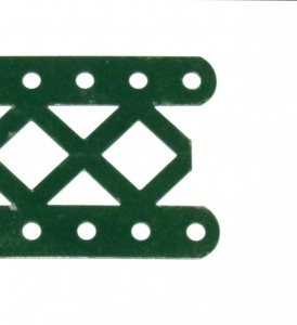 100DO Double Braced Girder 11 Hole Dark Green Original