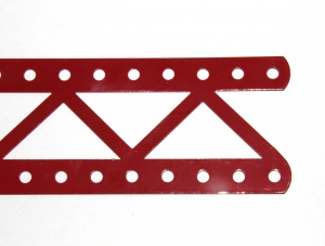 99a Single Braced Girder 19 Hole Red Open Ends Used