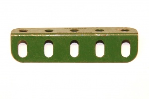 9d Angle Girder 5 Hole Mid Green Repainted