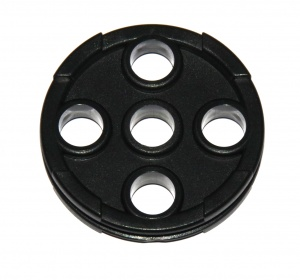 A001 Large Pulley Black Plastic Original