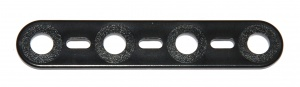 A004 Strip 4 Hole Black Plastic Original