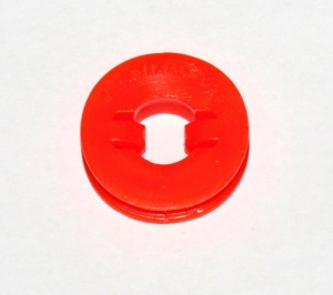 A057 Locking Clip Pulley Red Plastic Original