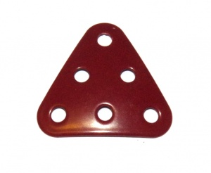 B484 Triangular Plate 3x3x3 Dished Dark Red Original