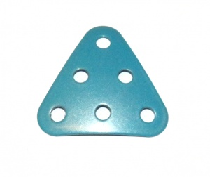 B484 Triangular Plate 3x3x3 Dished Light Blue Original