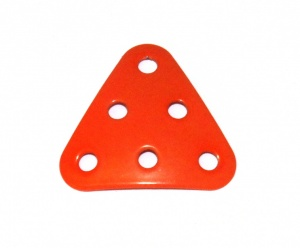 B484 Triangular Plate 3x3x3 Dished Orange Original