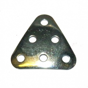 B484 Triangular Plate 3x3x3 Dished Zinc Original
