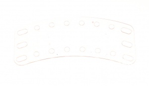 B709 Curved Flexible Plate 8x3 Transparent Original