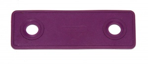 B714 Flexible Strip 2 Hole Purple Square End Plastic Original