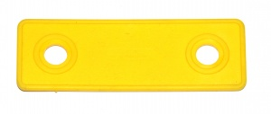 B714 Flexible Strip 2 Hole Yellow Square End Plastic Original