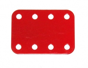 B864 Flexible Plate 3x4 Red Original