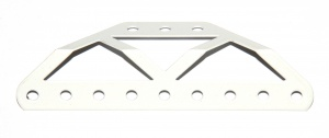 C371 Bent Braced Girder White Original