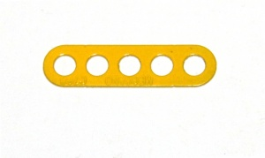 C768 Narrow Connector Strip 5 Hole 1 3/8'' Yellow Original