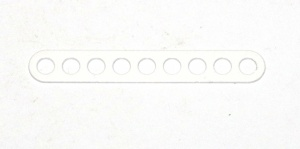 C771 Narrow Connector Strip 9 Hole 2 3/8'' White Original