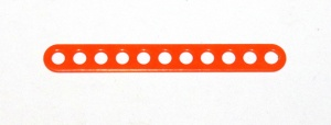 C772 Narrow Connector Strip 11 Hole 2 7/8'' Orange Original