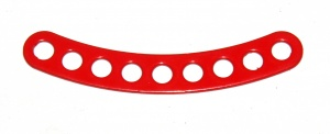 C777 Narrow Curved Strip 9 Hole ¼'' Spaced 2 3/8'' Radius Red Original