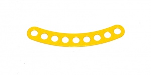 C777 Narrow Curved Strip 9 Hole ¼'' Spaced 2 3/8'' Radius Yellow Original