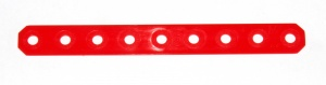 D110 Flexible Plastic Strip 9 Hole Red Original