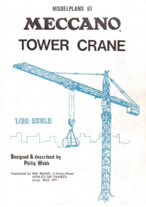 MP61 Tower Crane Plan