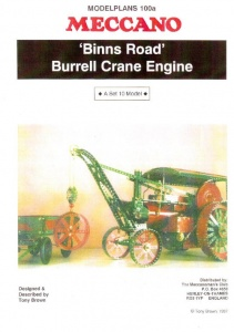 MP100a 'Binns Road' Burrell Crane Engine