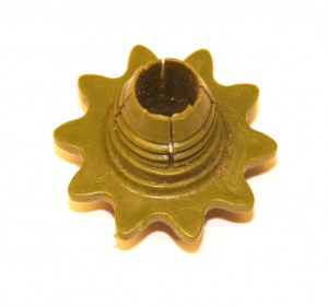 P84 Sprocket 10 Teeth Army Green Threaded Original