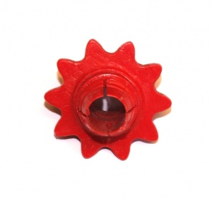 P84 Sprocket 10 Teeth Red Threaded Original