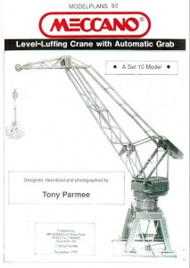 MP92 Level Luffing Crane with Automatic Grab