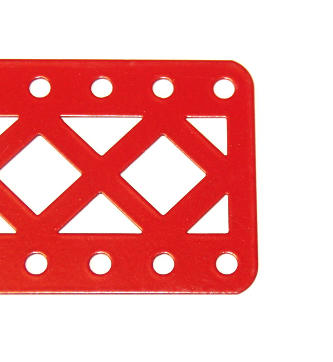 100aDC Double Braced Girder 9 Hole Closed Ends Red