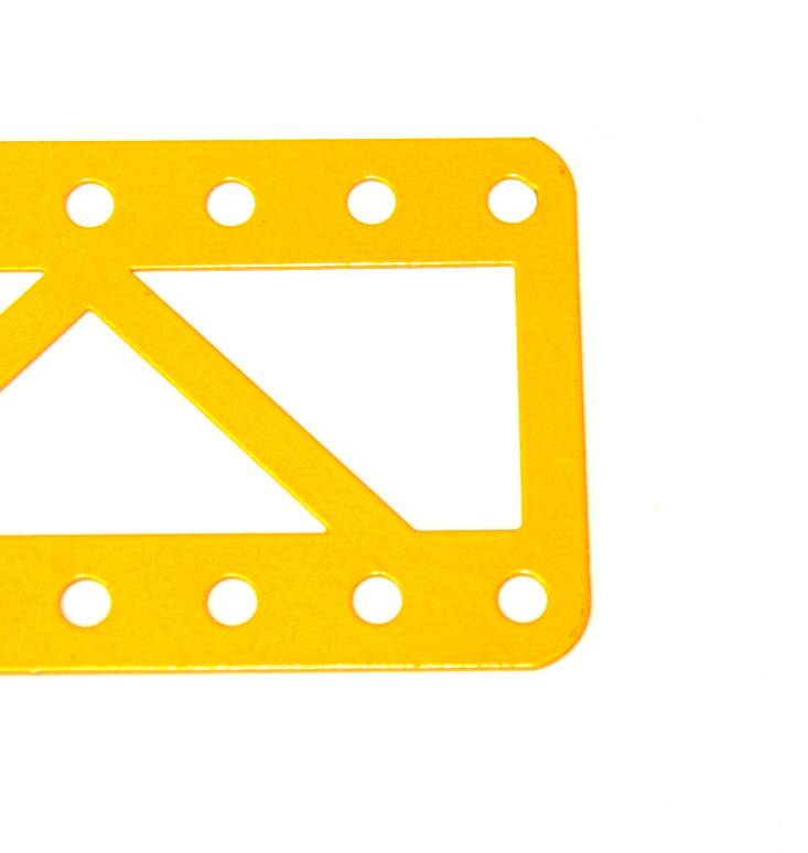 100 Single Braced Girder 11 Hole Closed Ends UK Yellow