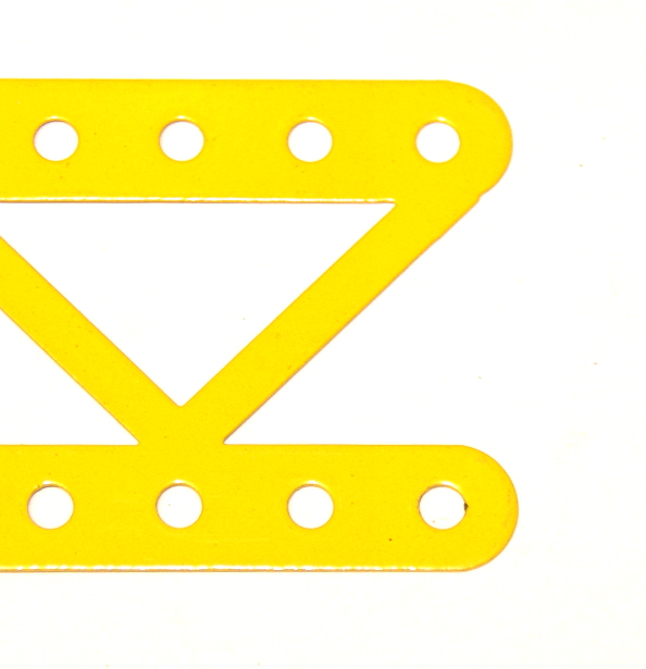 99a Single Braced Girder 19 Hole French Yellow Open Ends Ogl.
