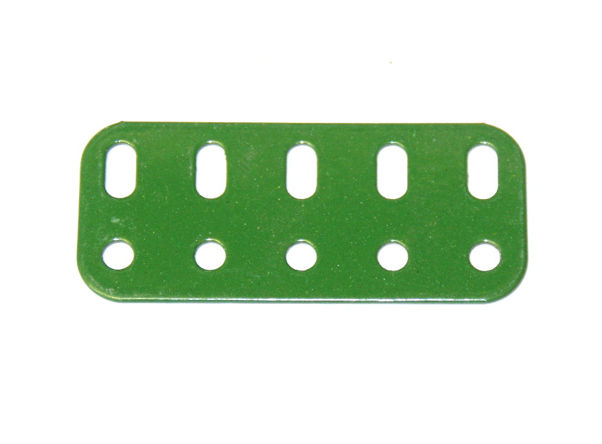 103f Flat Girder 5 Hole Green