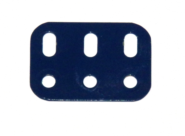 103h Flat Girder 3 Hole Dark Blue Used